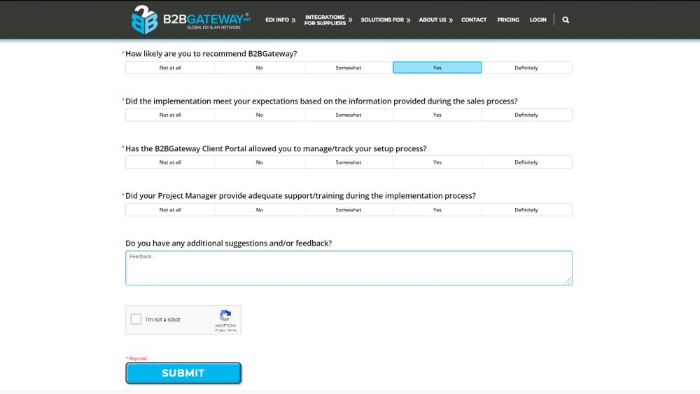 Client Feedback Survey